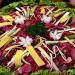 Delicioso plato de fiambre rojo, comida típica guatemalteca que se degusta el 1 de noviembre